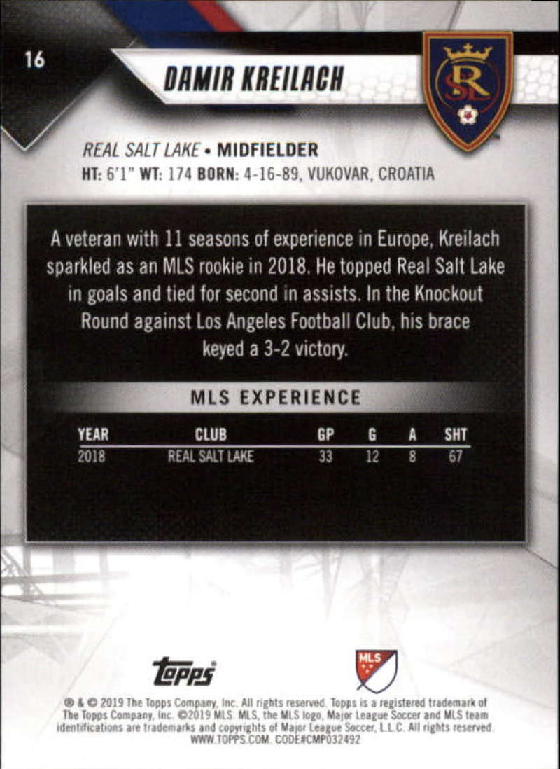 2019-Topps-MLS-Soccer-Base-Set-Cards-Choose-From-Card-039-s-1-200 thumbnail 33