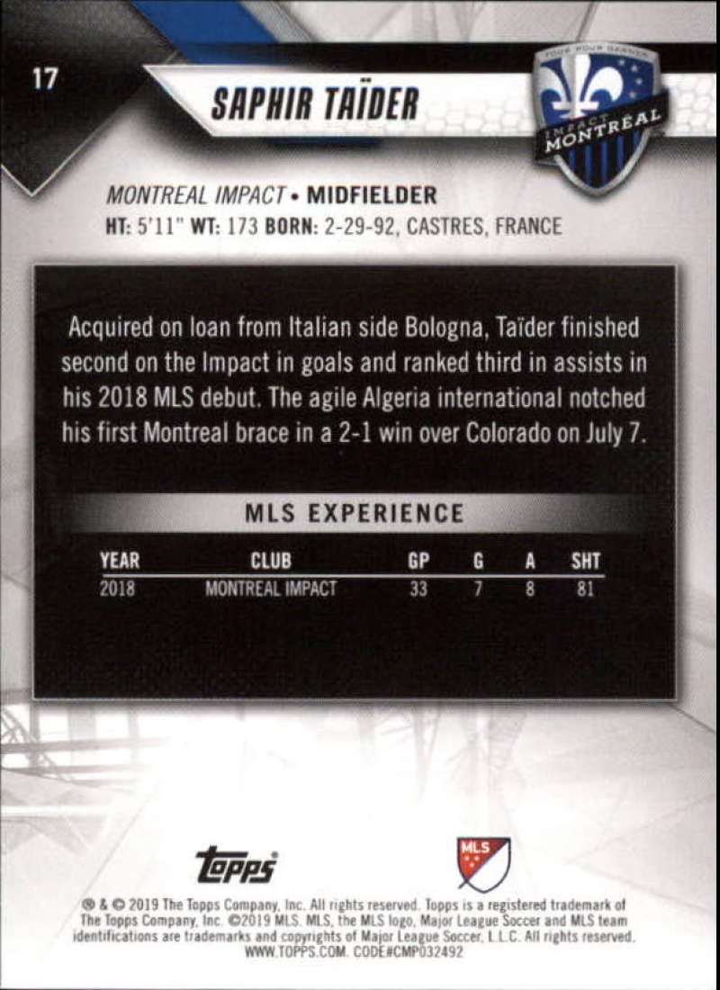 2019-Topps-MLS-Soccer-Base-Set-Cards-Choose-From-Card-039-s-1-200 thumbnail 35