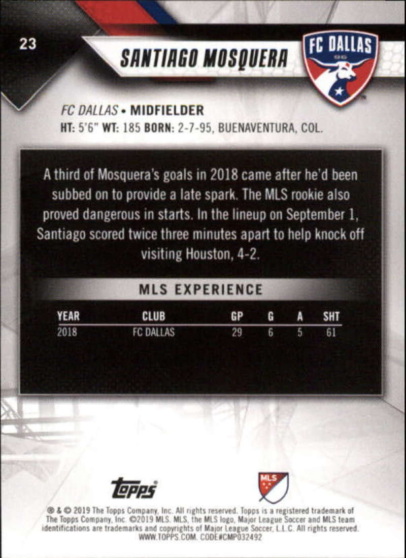 2019-Topps-MLS-Soccer-Base-Set-Cards-Choose-From-Card-039-s-1-200 thumbnail 47