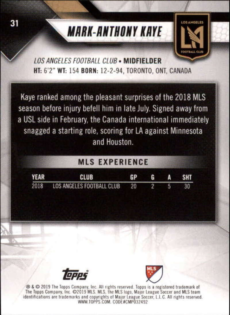 2019-Topps-MLS-Soccer-Base-Set-Cards-Choose-From-Card-039-s-1-200 thumbnail 63