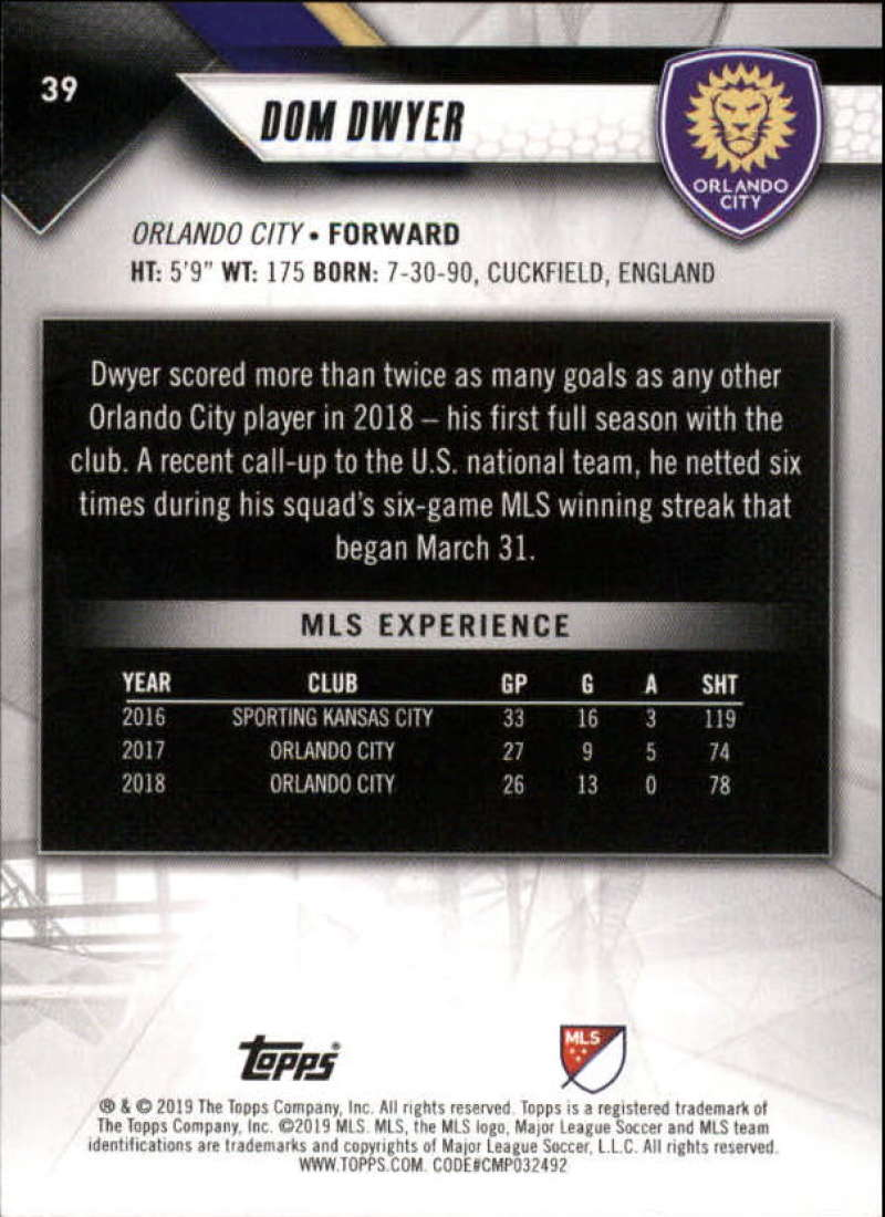 2019-Topps-MLS-Soccer-Base-Set-Cards-Choose-From-Card-039-s-1-200 thumbnail 79