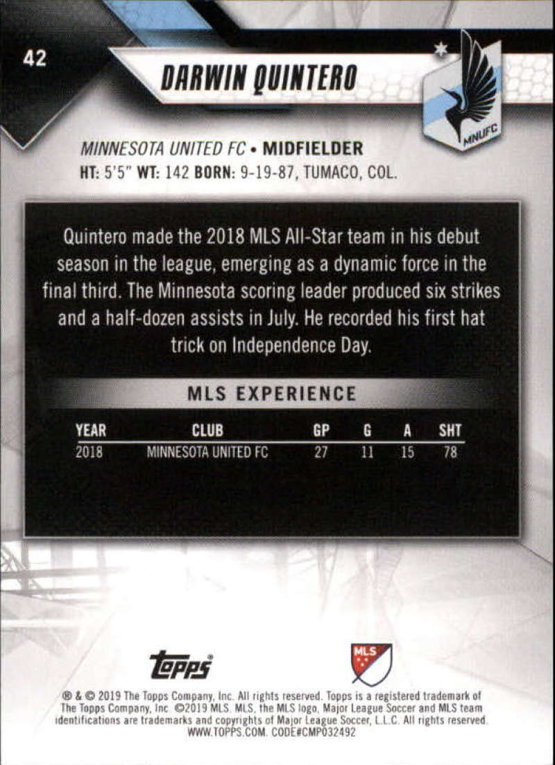 2019-Topps-MLS-Soccer-Base-Set-Cards-Choose-From-Card-039-s-1-200 thumbnail 85