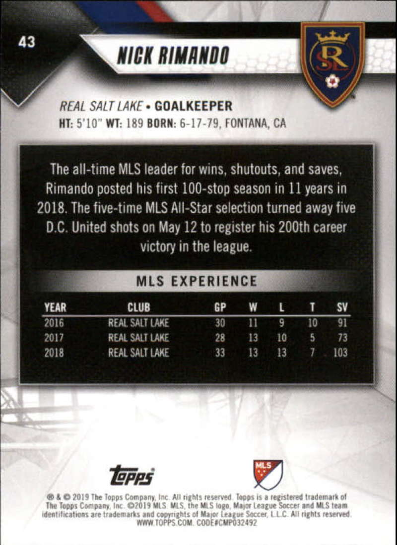 2019-Topps-MLS-Soccer-Base-Set-Cards-Choose-From-Card-039-s-1-200 thumbnail 87