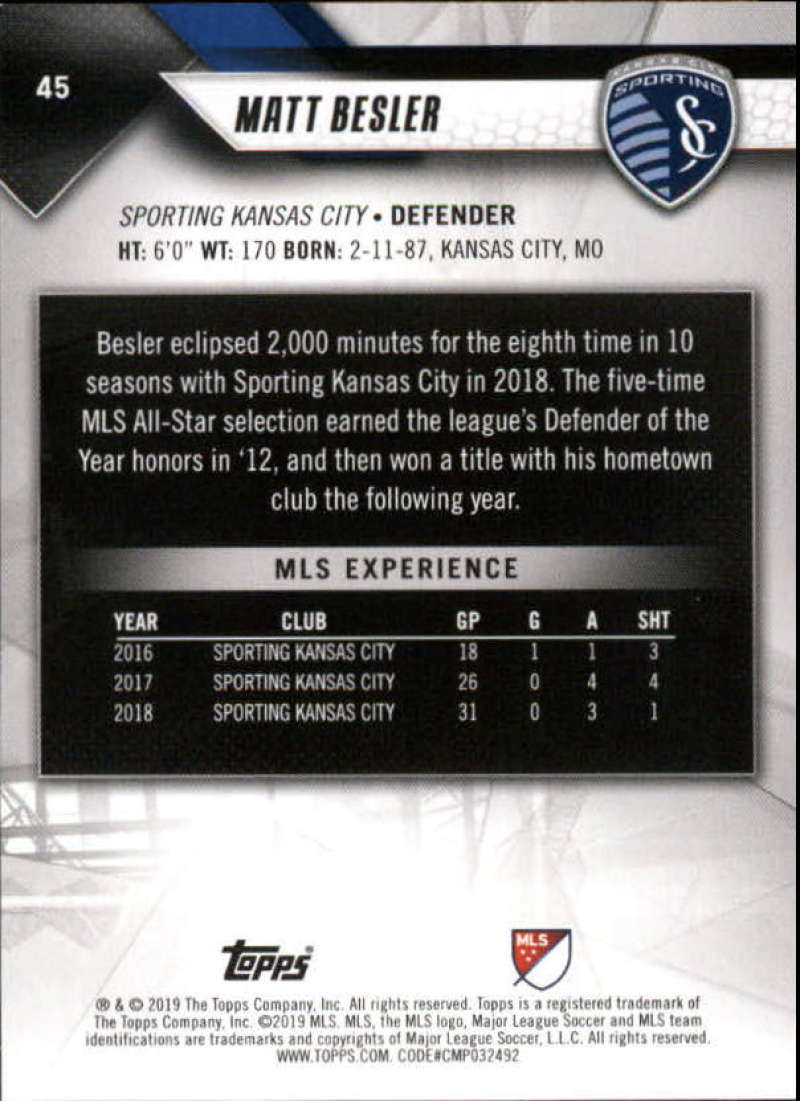 2019-Topps-MLS-Soccer-Base-Set-Cards-Choose-From-Card-039-s-1-200 thumbnail 91