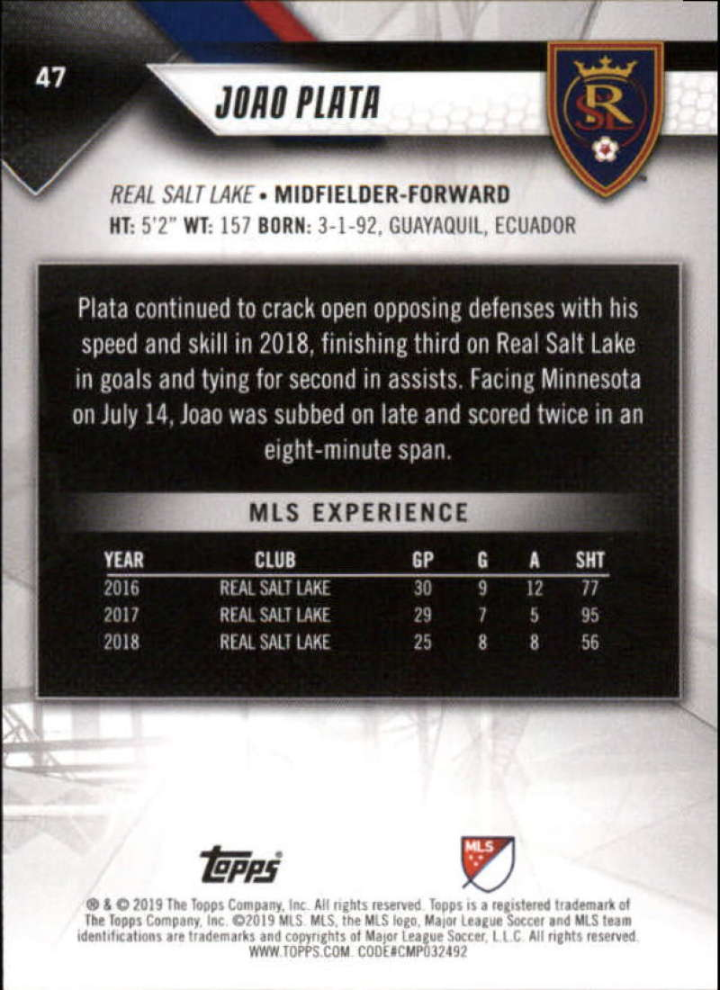 2019-Topps-MLS-Soccer-Base-Set-Cards-Choose-From-Card-039-s-1-200 thumbnail 95