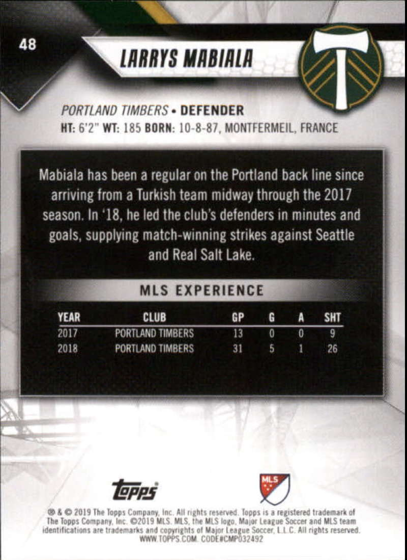 2019-Topps-MLS-Soccer-Base-Set-Cards-Choose-From-Card-039-s-1-200 thumbnail 97