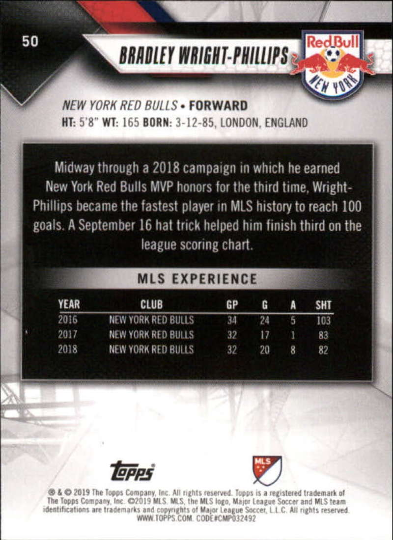 2019-Topps-MLS-Soccer-Base-Set-Cards-Choose-From-Card-039-s-1-200 thumbnail 101