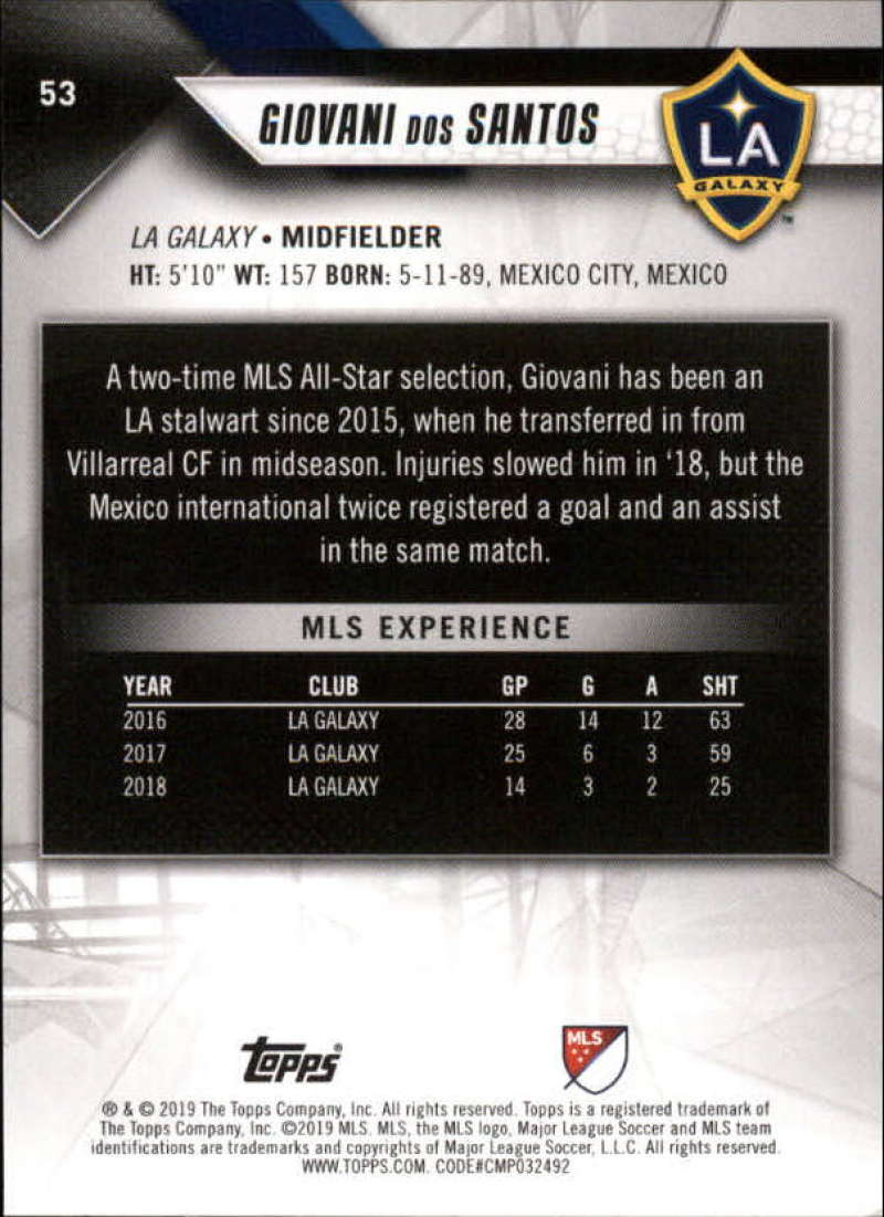2019-Topps-MLS-Soccer-Base-Set-Cards-Choose-From-Card-039-s-1-200 thumbnail 107