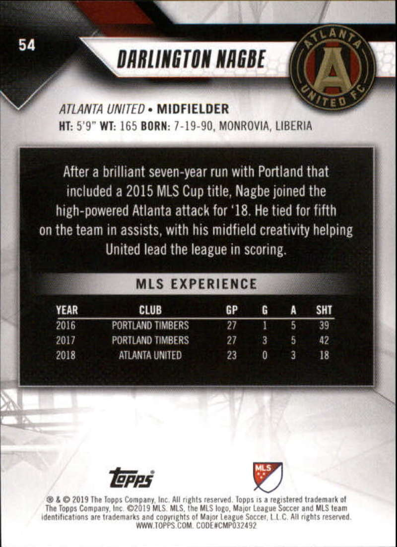 2019-Topps-MLS-Soccer-Base-Set-Cards-Choose-From-Card-039-s-1-200 thumbnail 109