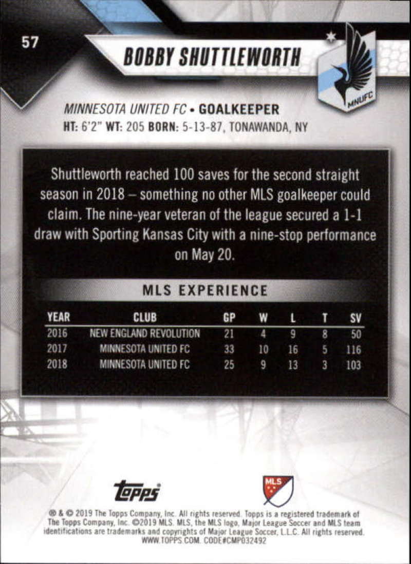 2019-Topps-MLS-Soccer-Base-Set-Cards-Choose-From-Card-039-s-1-200 thumbnail 115