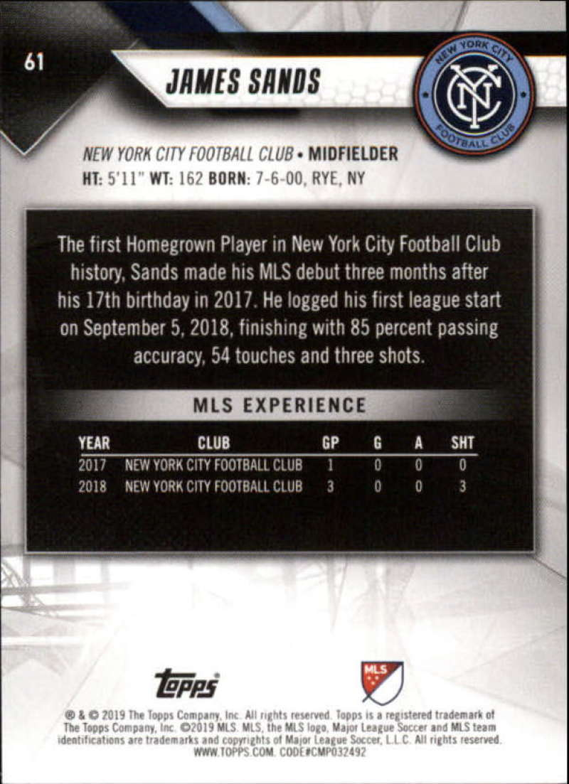 2019-Topps-MLS-Soccer-Base-Set-Cards-Choose-From-Card-039-s-1-200 thumbnail 123