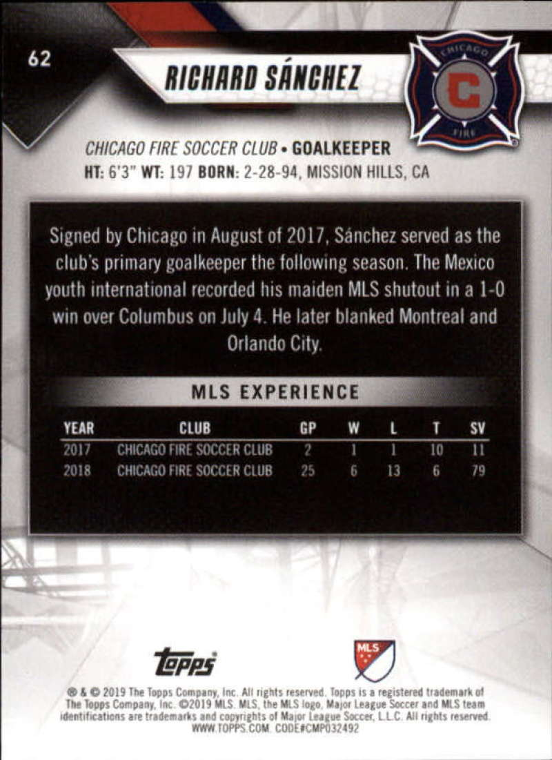 2019-Topps-MLS-Soccer-Base-Set-Cards-Choose-From-Card-039-s-1-200 thumbnail 125