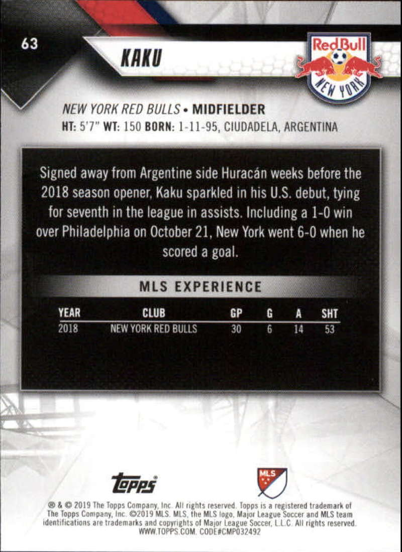 2019-Topps-MLS-Soccer-Base-Set-Cards-Choose-From-Card-039-s-1-200 thumbnail 127