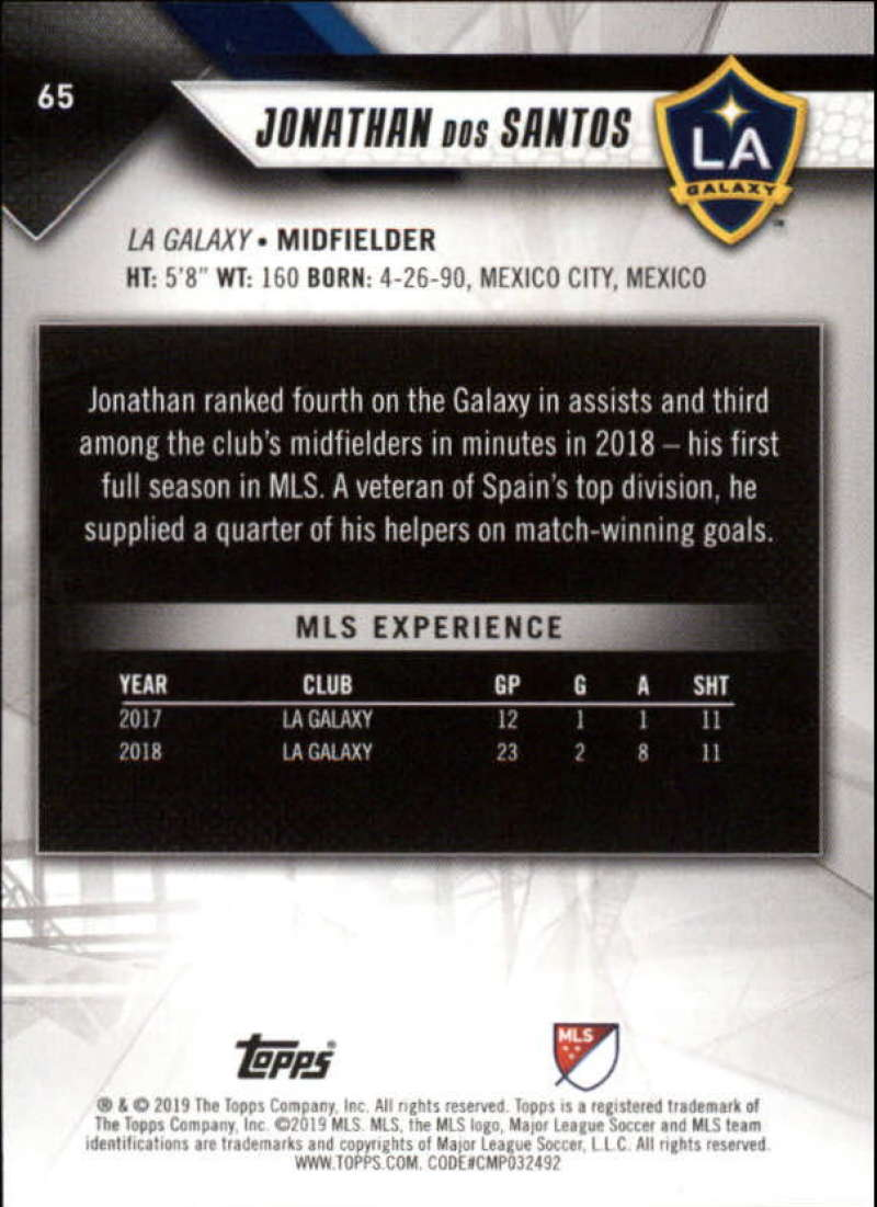 2019-Topps-MLS-Soccer-Base-Set-Cards-Choose-From-Card-039-s-1-200 thumbnail 131