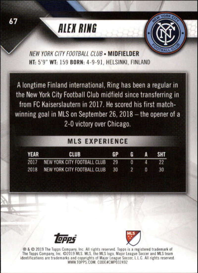 2019-Topps-MLS-Soccer-Base-Set-Cards-Choose-From-Card-039-s-1-200 thumbnail 135