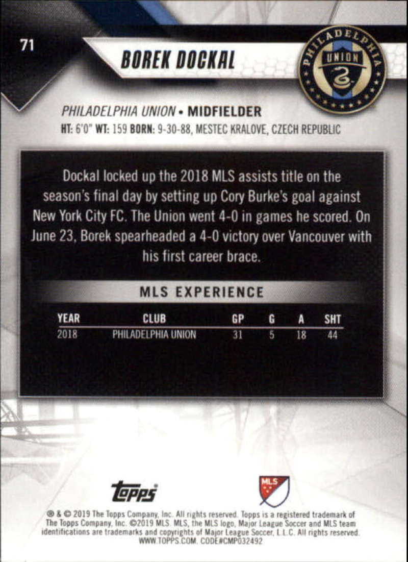 2019-Topps-MLS-Soccer-Base-Set-Cards-Choose-From-Card-039-s-1-200 thumbnail 143