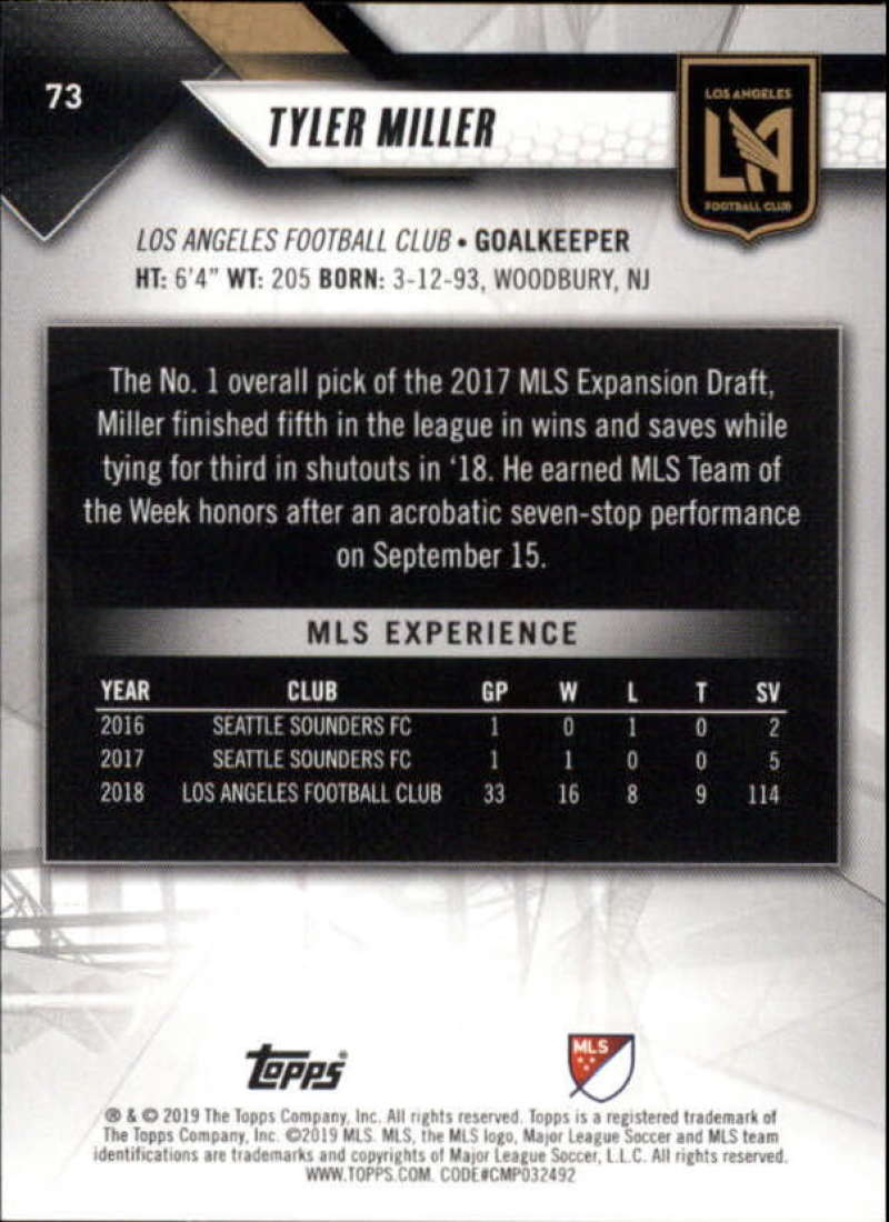 2019-Topps-MLS-Soccer-Base-Set-Cards-Choose-From-Card-039-s-1-200 thumbnail 147