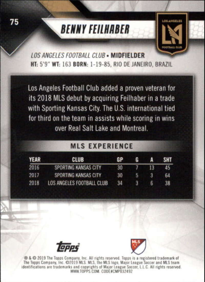 2019-Topps-MLS-Soccer-Base-Set-Cards-Choose-From-Card-039-s-1-200 thumbnail 151