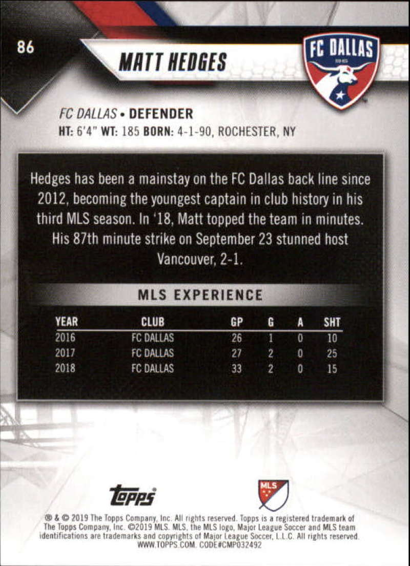 2019-Topps-MLS-Soccer-Base-Set-Cards-Choose-From-Card-039-s-1-200 thumbnail 173