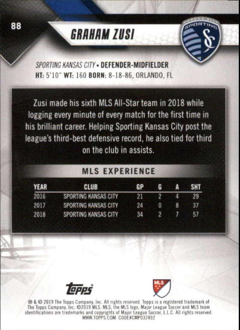 2019-Topps-MLS-Soccer-Base-Set-Cards-Choose-From-Card-039-s-1-200 thumbnail 177
