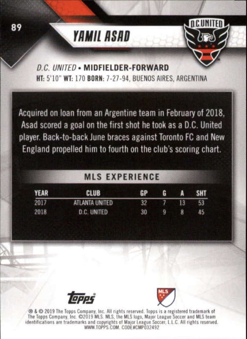 2019-Topps-MLS-Soccer-Base-Set-Cards-Choose-From-Card-039-s-1-200 thumbnail 179