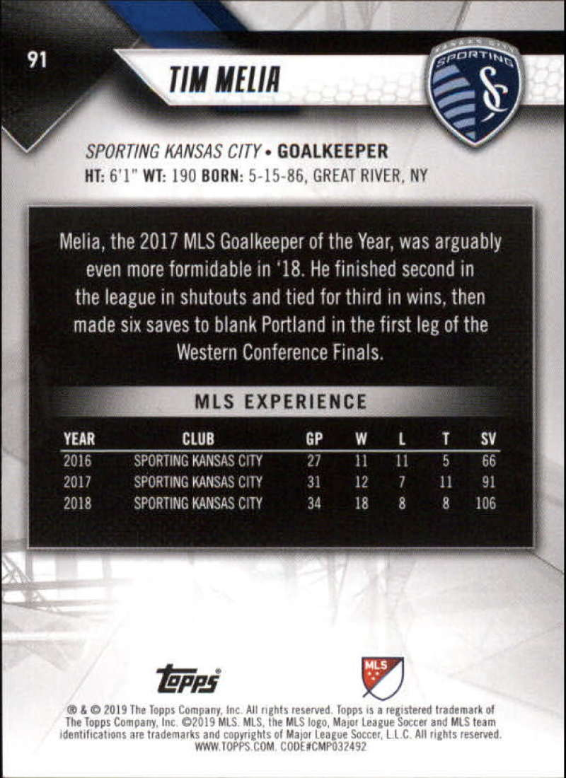 2019-Topps-MLS-Soccer-Base-Set-Cards-Choose-From-Card-039-s-1-200 thumbnail 183