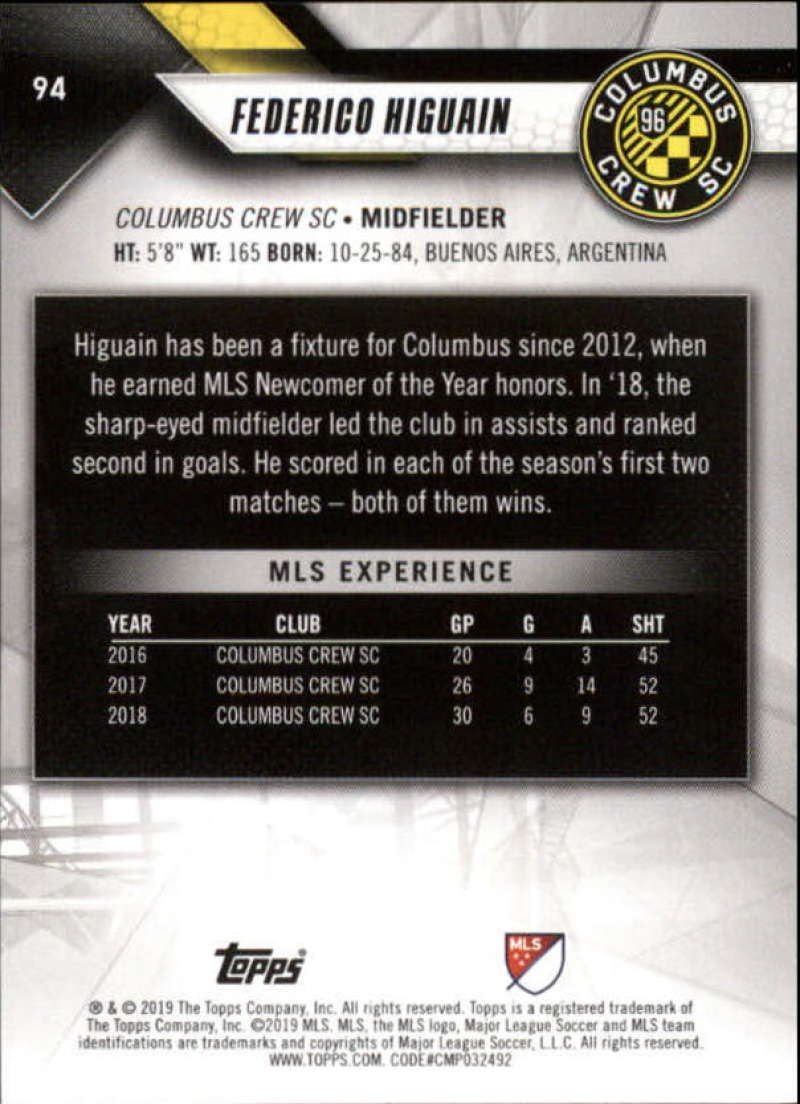 2019-Topps-MLS-Soccer-Base-Set-Cards-Choose-From-Card-039-s-1-200 thumbnail 189