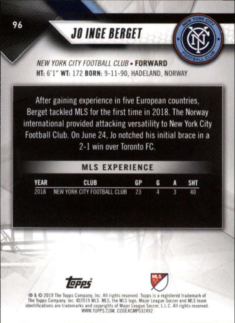 2019-Topps-MLS-Soccer-Base-Set-Cards-Choose-From-Card-039-s-1-200 thumbnail 193