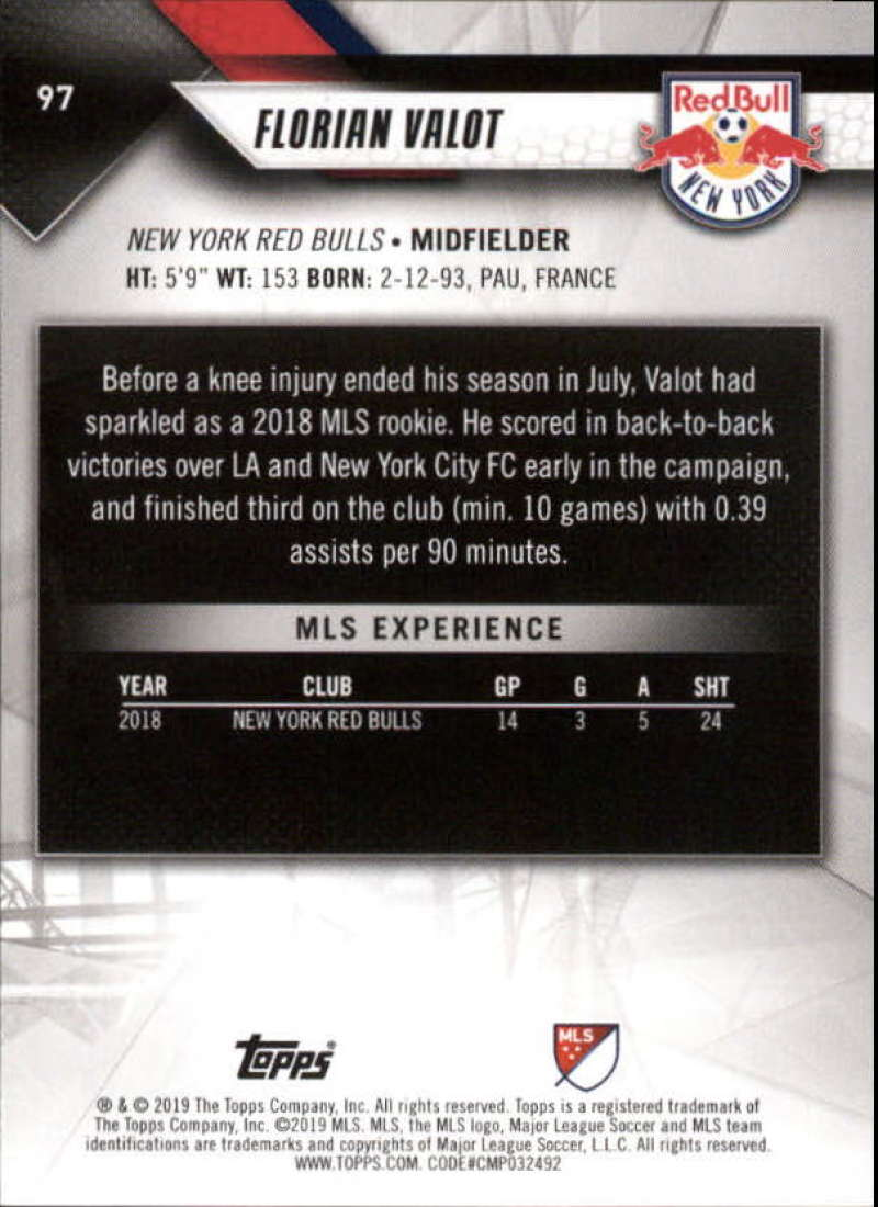 2019-Topps-MLS-Soccer-Base-Set-Cards-Choose-From-Card-039-s-1-200 thumbnail 195