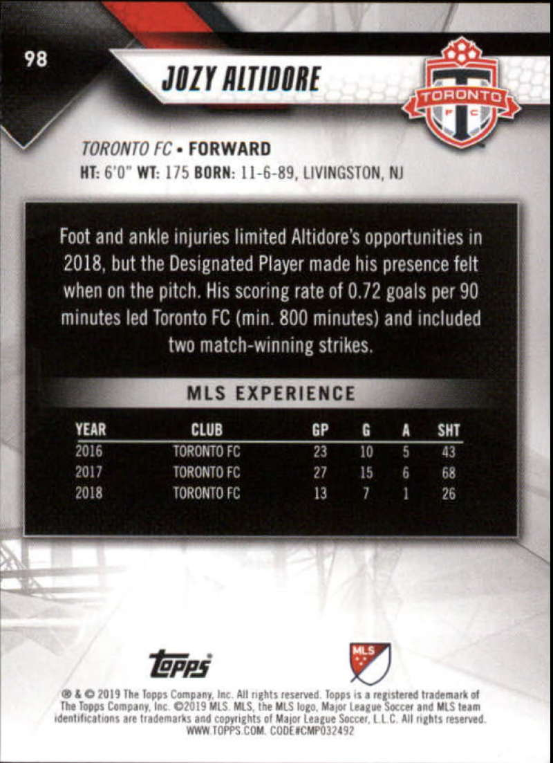 2019-Topps-MLS-Soccer-Base-Set-Cards-Choose-From-Card-039-s-1-200 thumbnail 197