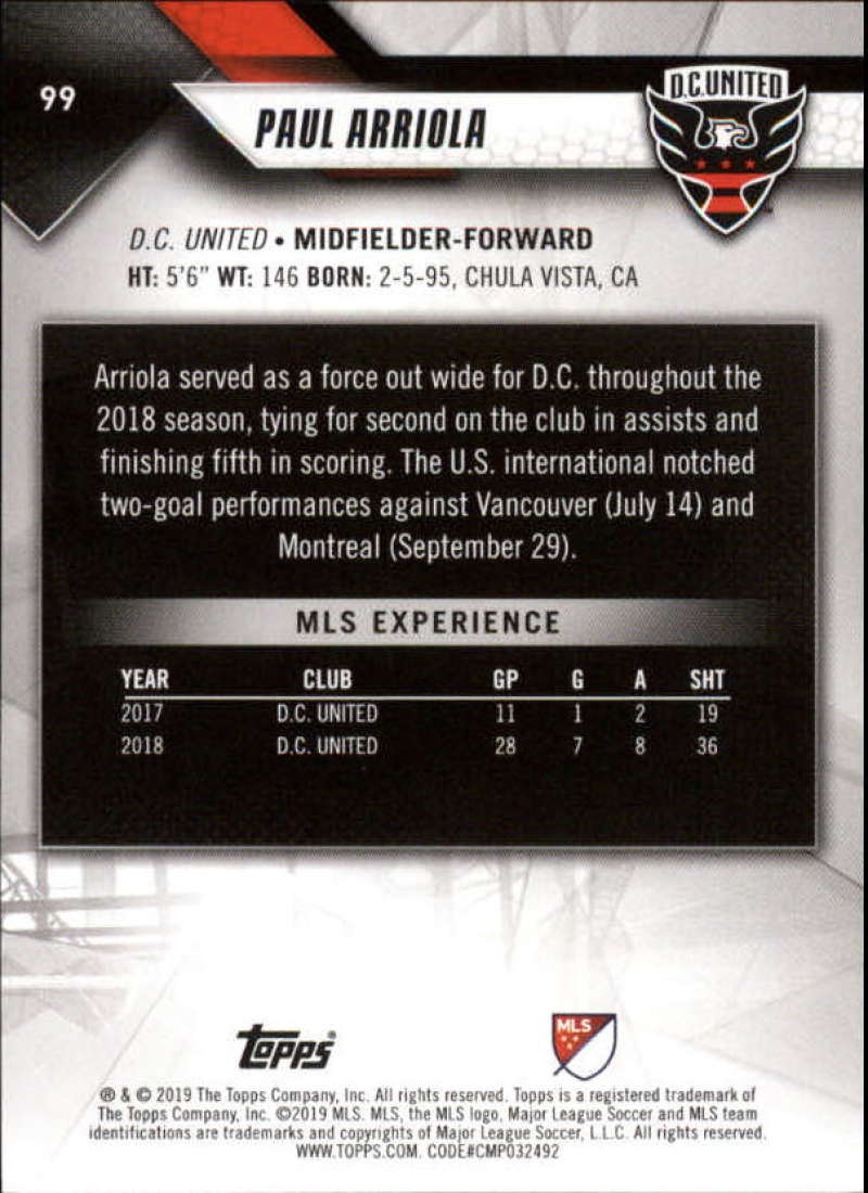 2019-Topps-MLS-Soccer-Base-Set-Cards-Choose-From-Card-039-s-1-200 thumbnail 199