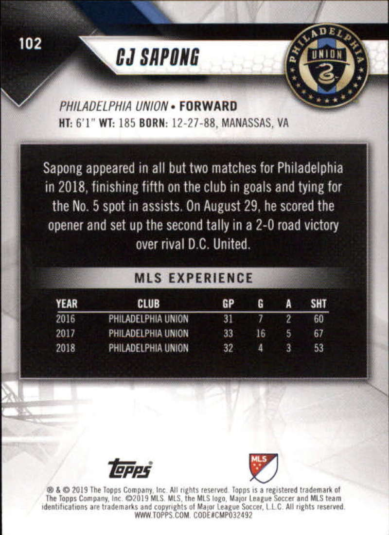 2019-Topps-MLS-Soccer-Base-Set-Cards-Choose-From-Card-039-s-1-200 thumbnail 205