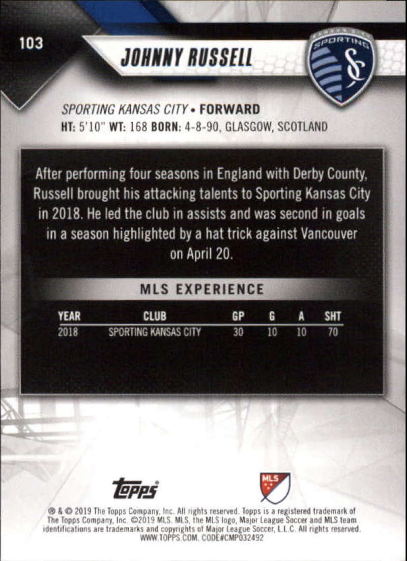 2019-Topps-MLS-Soccer-Base-Set-Cards-Choose-From-Card-039-s-1-200 thumbnail 207