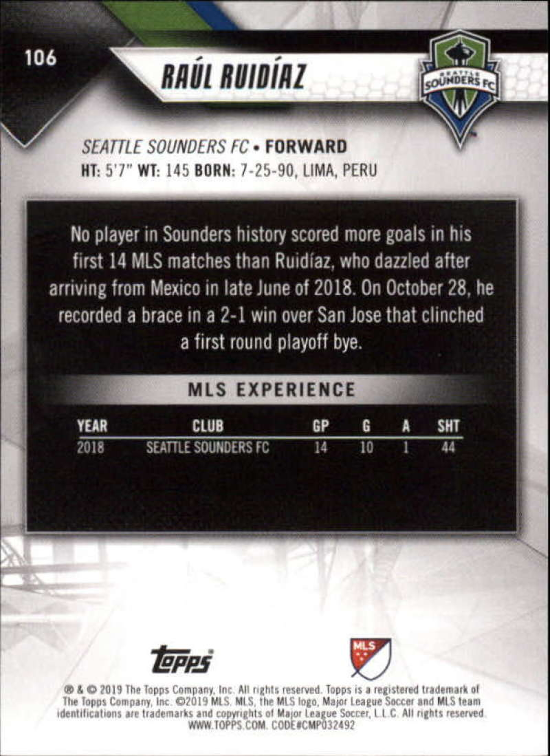 2019-Topps-MLS-Soccer-Base-Set-Cards-Choose-From-Card-039-s-1-200 thumbnail 213