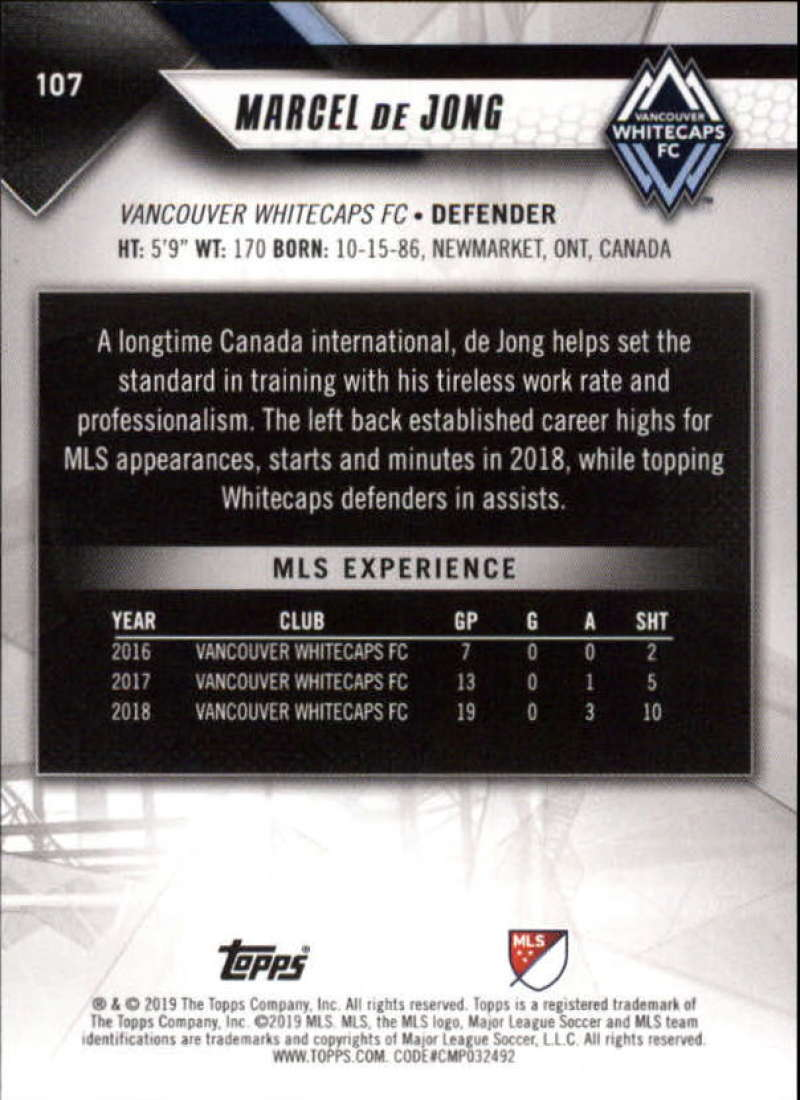 2019-Topps-MLS-Soccer-Base-Set-Cards-Choose-From-Card-039-s-1-200 thumbnail 215
