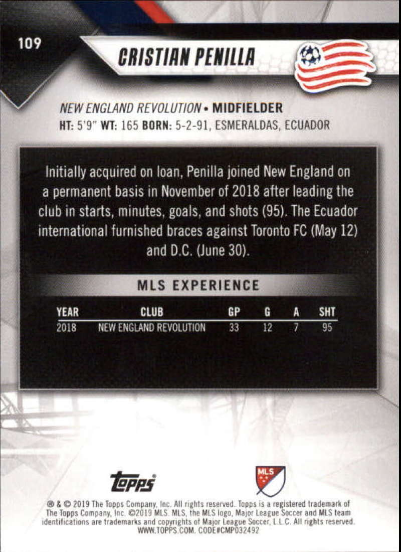 2019-Topps-MLS-Soccer-Base-Set-Cards-Choose-From-Card-039-s-1-200 thumbnail 219
