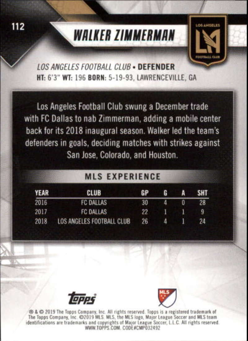 2019-Topps-MLS-Soccer-Base-Set-Cards-Choose-From-Card-039-s-1-200 thumbnail 225