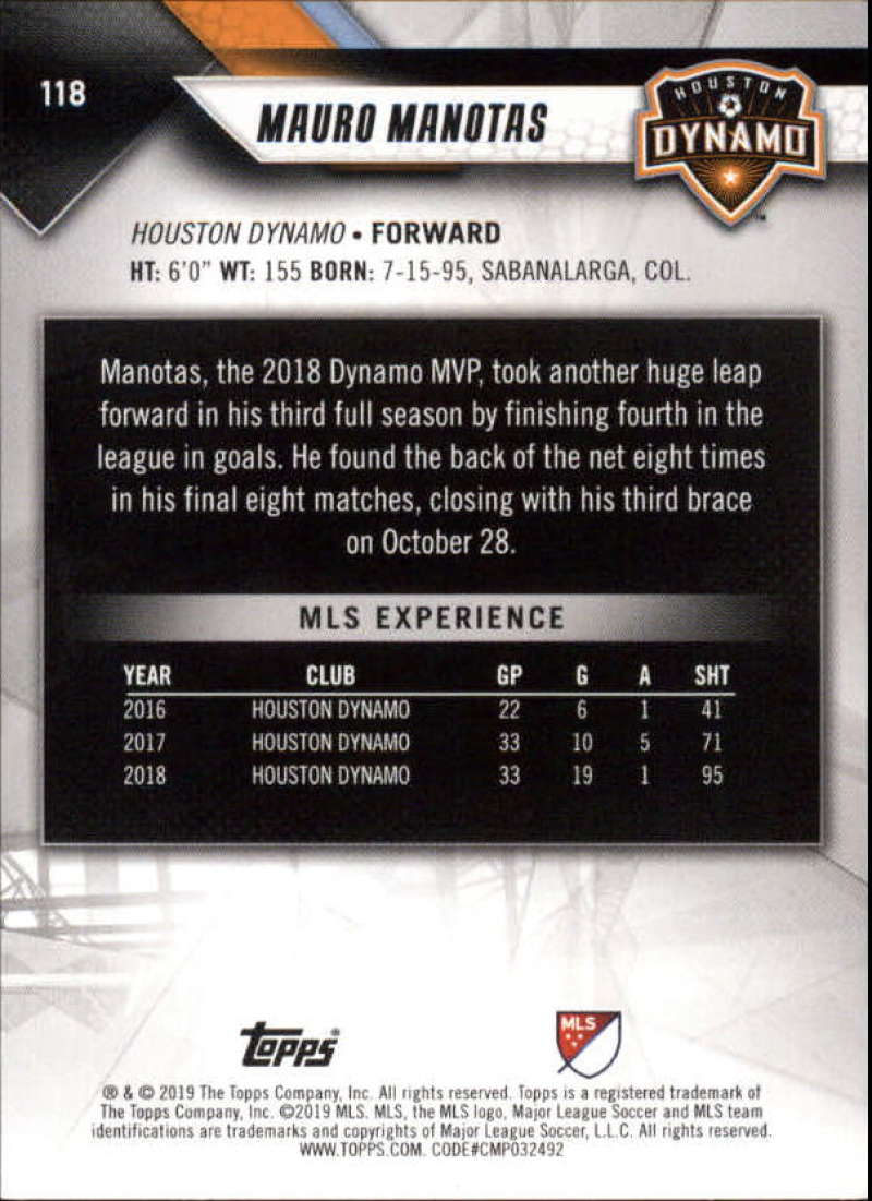 2019-Topps-MLS-Soccer-Base-Set-Cards-Choose-From-Card-039-s-1-200 thumbnail 237
