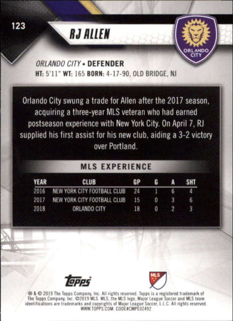 2019-Topps-MLS-Soccer-Base-Set-Cards-Choose-From-Card-039-s-1-200 thumbnail 247