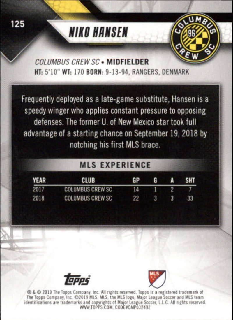 2019-Topps-MLS-Soccer-Base-Set-Cards-Choose-From-Card-039-s-1-200 thumbnail 251
