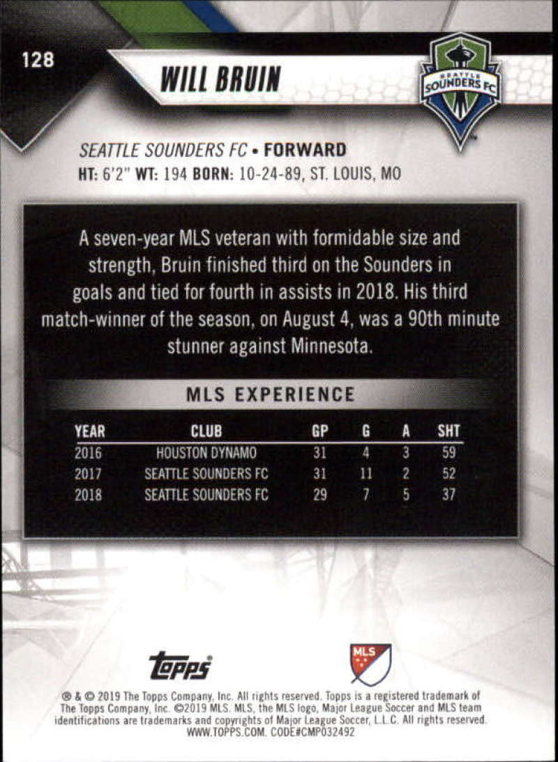 2019-Topps-MLS-Soccer-Base-Set-Cards-Choose-From-Card-039-s-1-200 thumbnail 257