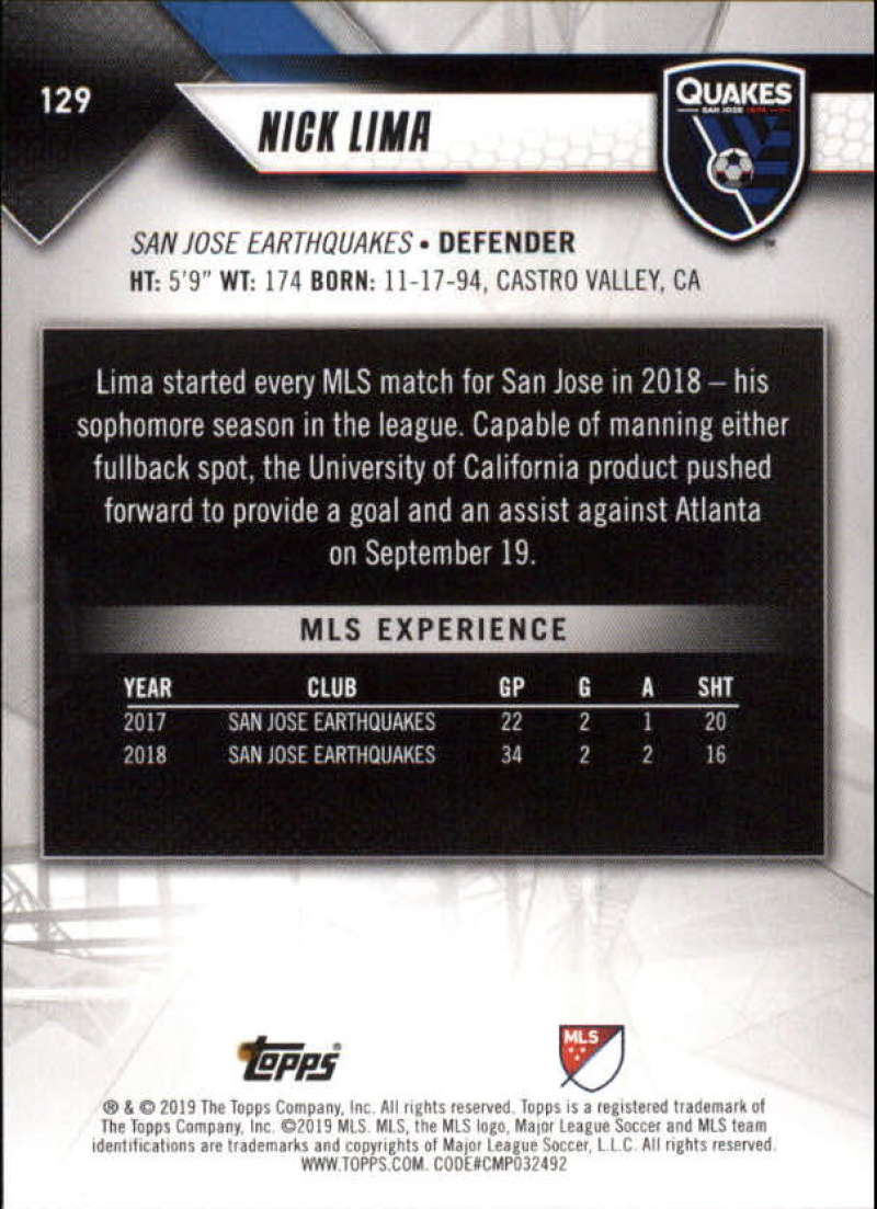 2019-Topps-MLS-Soccer-Base-Set-Cards-Choose-From-Card-039-s-1-200 thumbnail 259