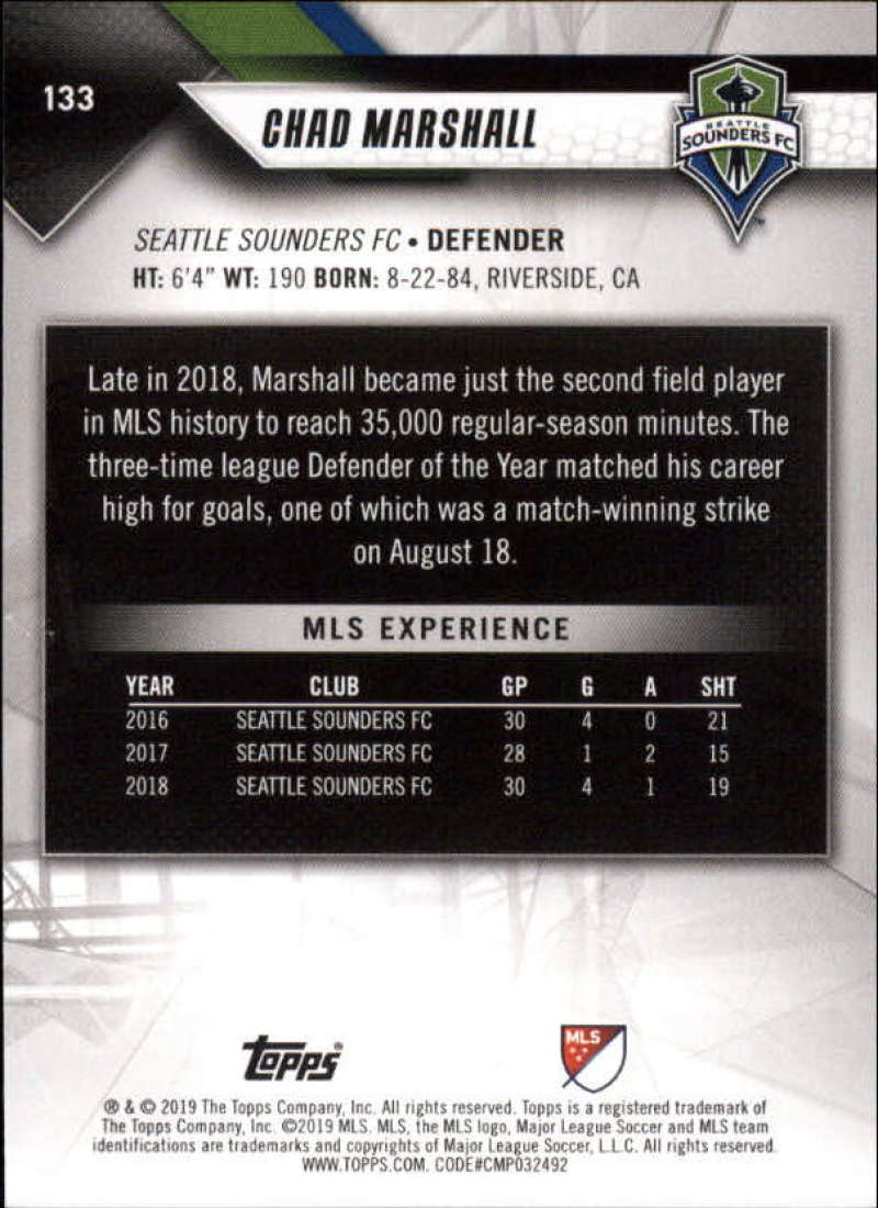 2019-Topps-MLS-Soccer-Base-Set-Cards-Choose-From-Card-039-s-1-200 thumbnail 267