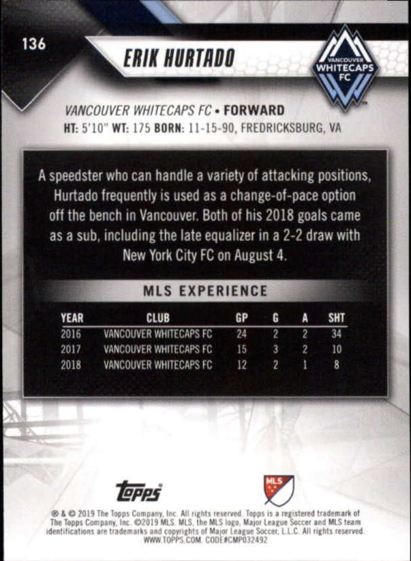 2019-Topps-MLS-Soccer-Base-Set-Cards-Choose-From-Card-039-s-1-200 thumbnail 273
