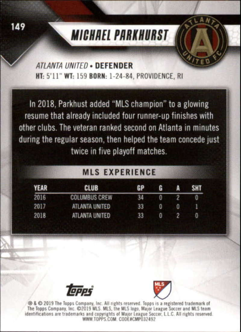 2019-Topps-MLS-Soccer-Base-Set-Cards-Choose-From-Card-039-s-1-200 thumbnail 299