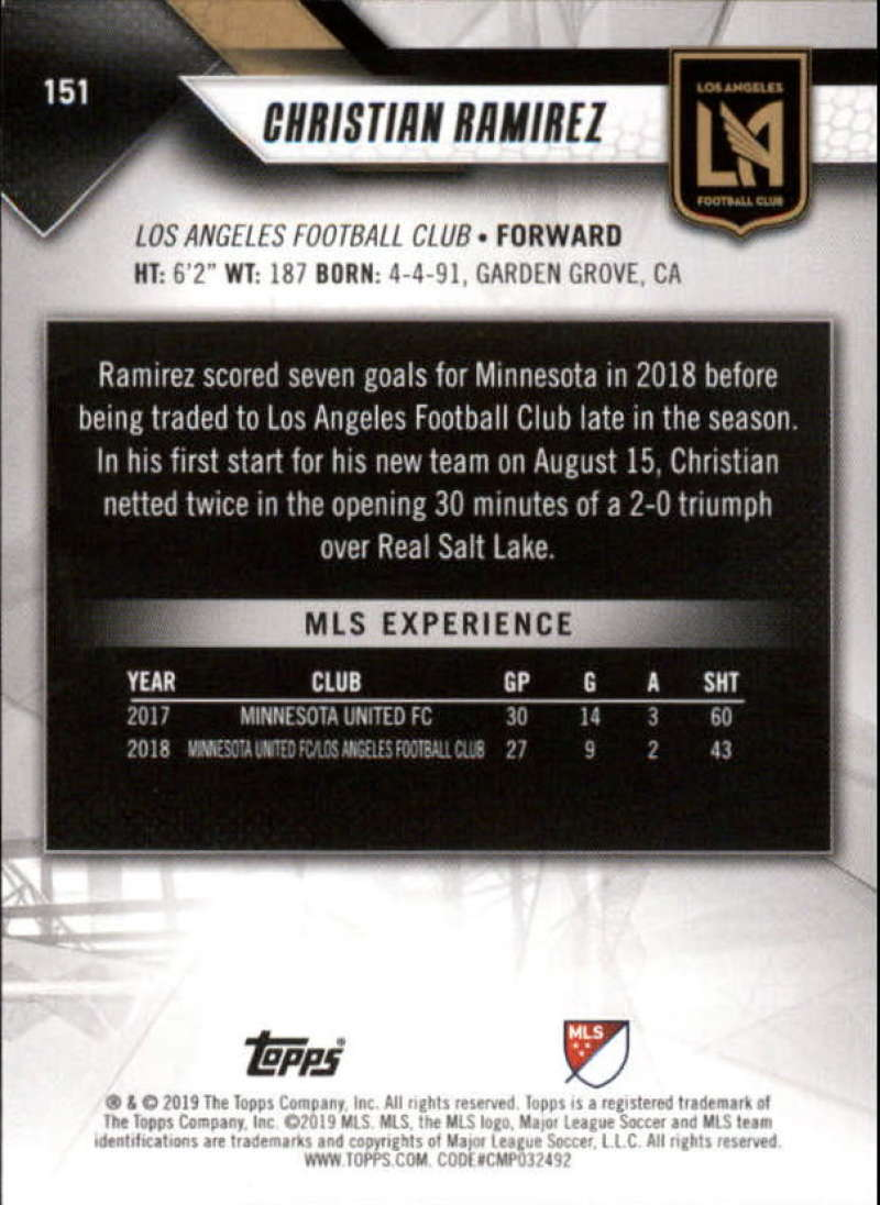 2019-Topps-MLS-Soccer-Base-Set-Cards-Choose-From-Card-039-s-1-200 thumbnail 303