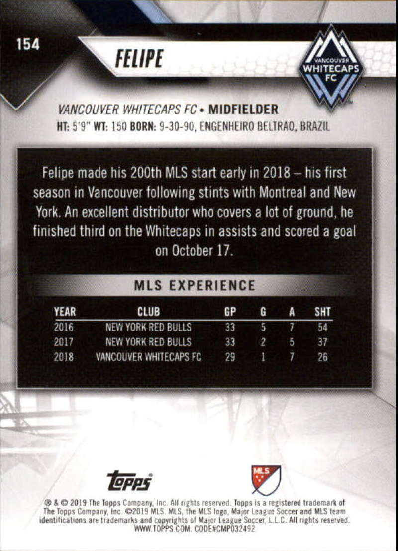 2019-Topps-MLS-Soccer-Base-Set-Cards-Choose-From-Card-039-s-1-200 thumbnail 309