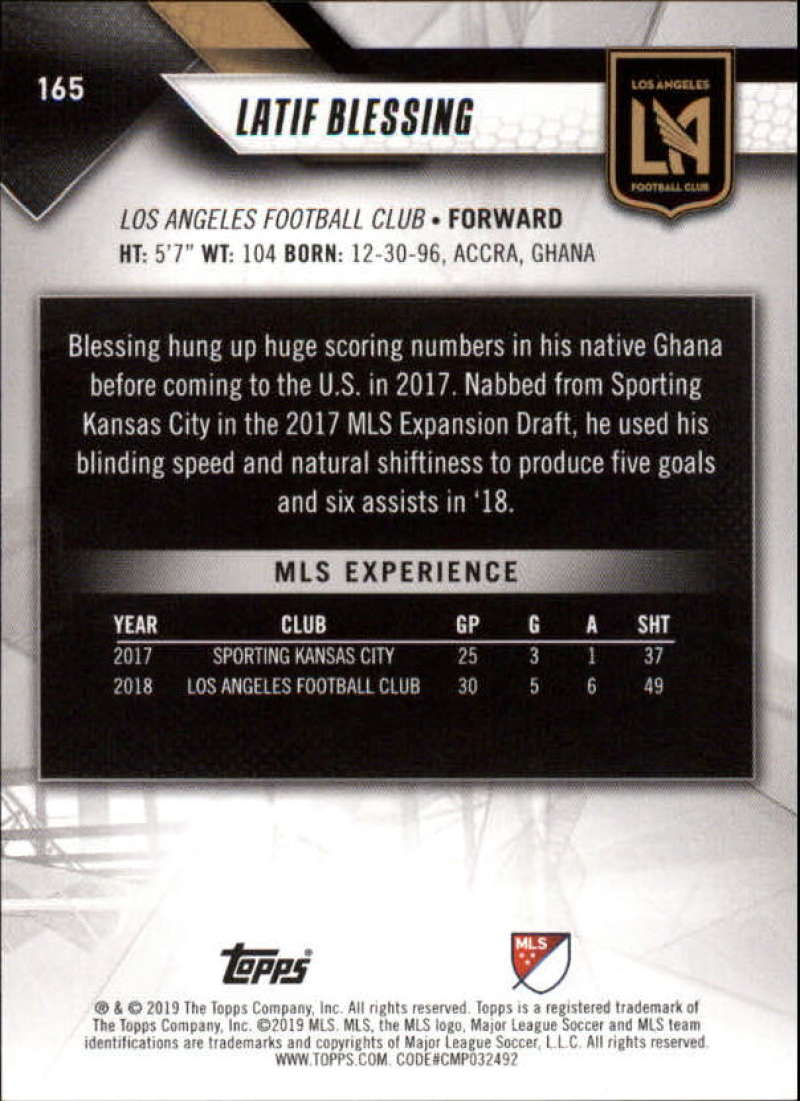 2019-Topps-MLS-Soccer-Base-Set-Cards-Choose-From-Card-039-s-1-200 thumbnail 331