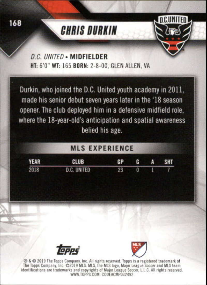 2019-Topps-MLS-Soccer-Base-Set-Cards-Choose-From-Card-039-s-1-200 thumbnail 337