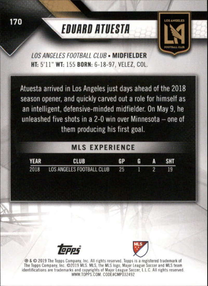 2019-Topps-MLS-Soccer-Base-Set-Cards-Choose-From-Card-039-s-1-200 thumbnail 341